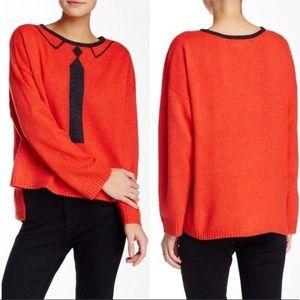 WILDFOX Tie Pullover Sweater Sz Small